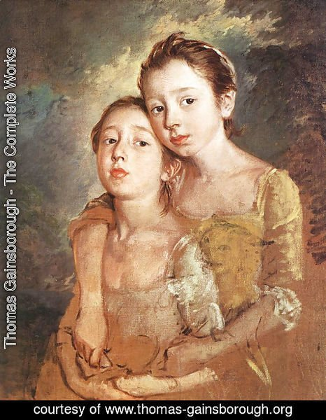 Thomas Gainsborough - Artist's daughters with a cat