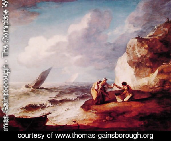 Thomas Gainsborough - A Rocky Coastal Scene