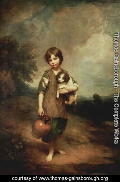 Thomas Gainsborough - Cottage Girl with Dog and Pitcher
