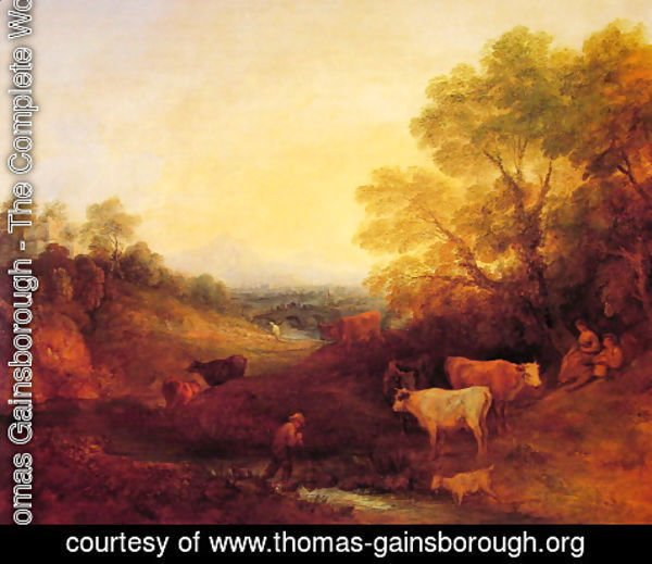 Thomas Gainsborough - Landscape with Cattle