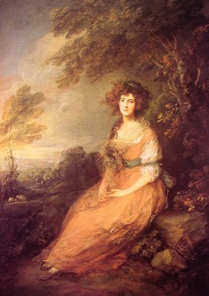 Thomas Gainsborough - Mrs Sheridan