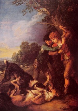 Thomas Gainsborough - Shepherd Boys with Dogs Fighting