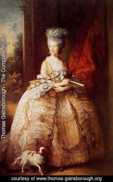 Thomas Gainsborough - Queen Charlotte
