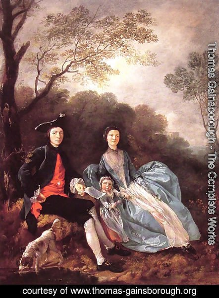 Thomas Gainsborough - Portrait of the Artist with his Wife and Daughter