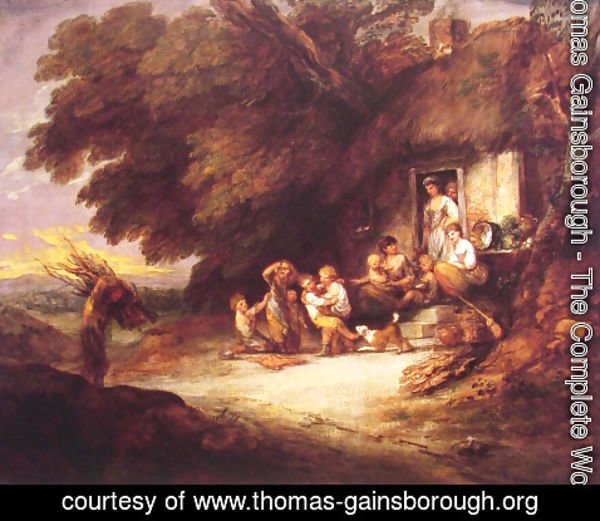thomas gainsborough the complete works the cottage door thomas rh thomas gainsborough org Cottage Interior Doors Cottage Door Clip Art
