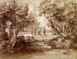 Thomas Gainsborough - Dancers With Musicians In A Woodland Glade