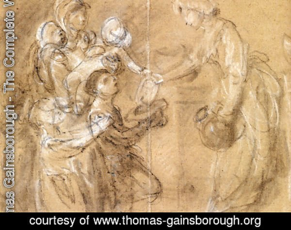 Thomas Gainsborough - A Study For 'Charity Relieving Distress'