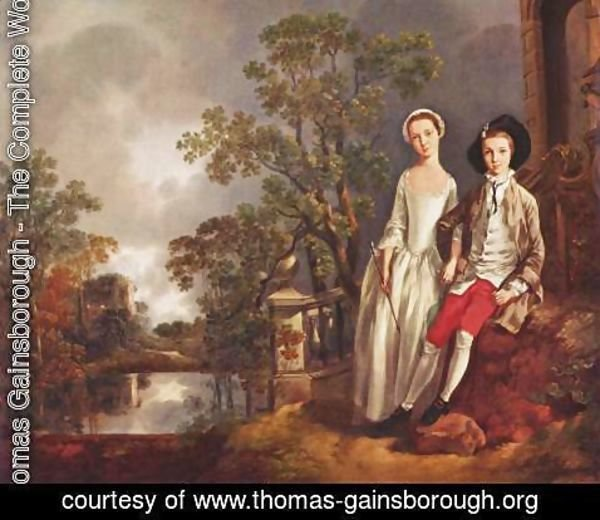 Thomas Gainsborough - Heneage Lloyd and His Sister