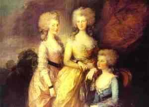 Thomas Gainsborough - The Three Elder Princesses