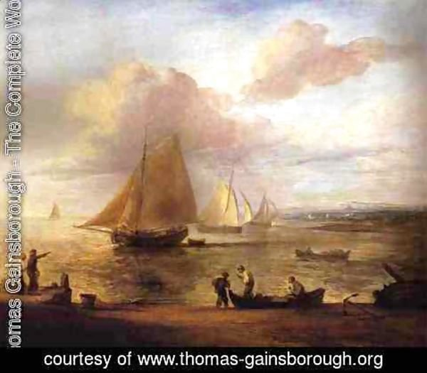 Thomas Gainsborough - Coastal Scene - a Calm