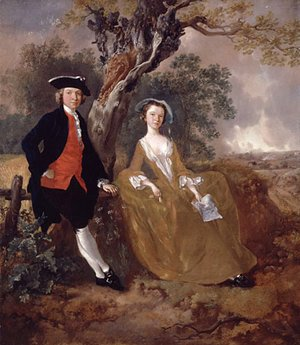 Thomas Gainsborough - An Unknown Couple in a Landscape