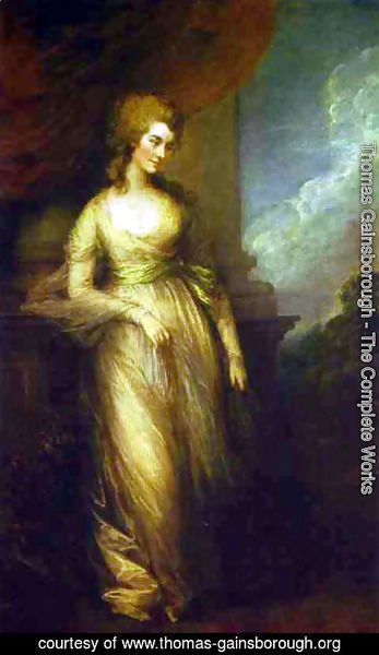 Thomas Gainsborough - Georgiana. Duchess of Devonshire
