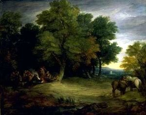 Thomas Gainsborough - Gypsy Encampment. Sunset