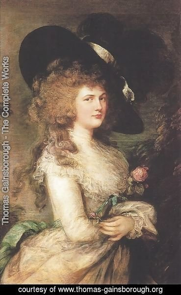 Thomas Gainsborough - Lady Georgiana Cavendish, Duchess of Devonshire