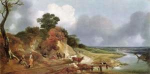 Landscape with the village Cornard