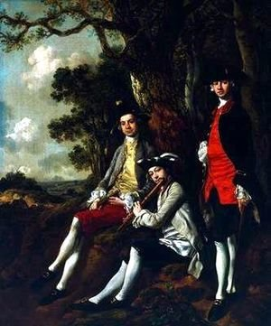 Thomas Gainsborough - Peter Darnell Muilman. Charles Crokatt and William Keable in a Landscape