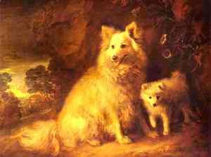 Thomas Gainsborough - Pomeranian Bitch and Puppy