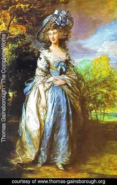 Thomas Gainsborough - Sophia Charlotte. Lady Sheffield