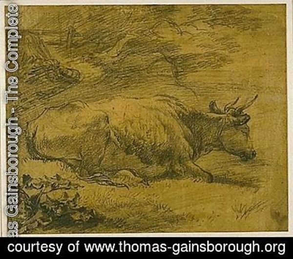 Thomas Gainsborough - Study of a Cow in a Landscape