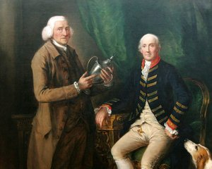 Thomas Gainsborough - William Anne Hollis, Fourth Earl of Essex, Presenting a Cup to Thomas Clutterbuck of Watford