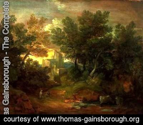 Thomas Gainsborough - Woody Landscape with Building