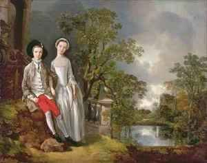 Thomas Gainsborough - Portrait of Heneage Lloyd and his Sister Lucy