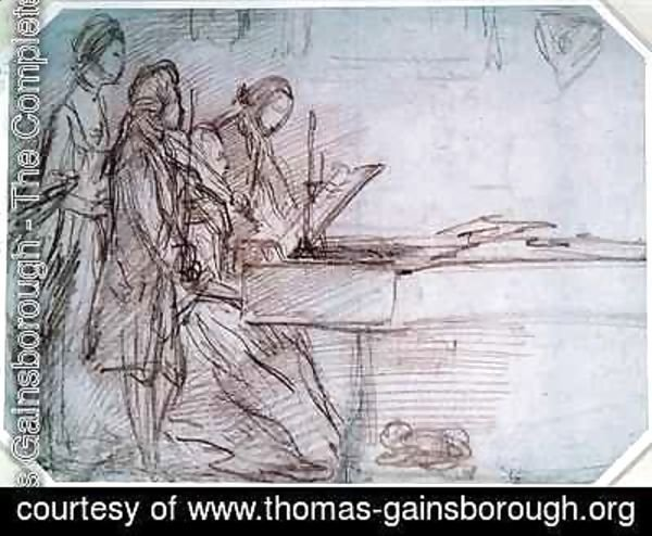Thomas Gainsborough - Study for a Group Portrait of a Musical Party