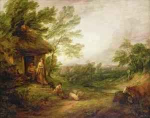 Thomas Gainsborough - Cottage Door with Girl and Pigs