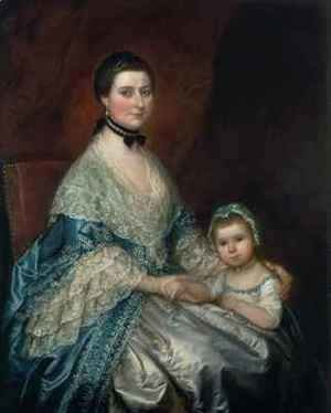 Thomas Gainsborough - Mrs Bedingfield and her Daughter