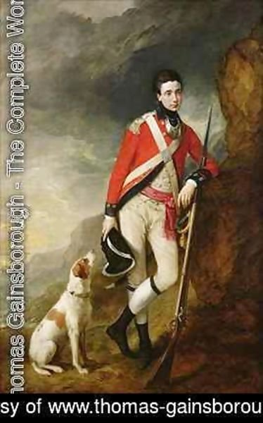 Thomas Gainsborough - An Officer of the 4th Regiment of Foot