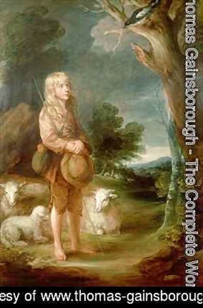 Thomas Gainsborough - Shepherd boy listening to a magpie