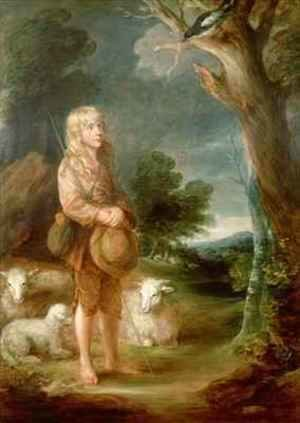 Shepherd boy listening to a magpie