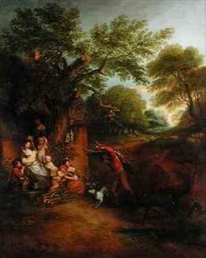 Thomas Gainsborough - Figures before a Cottage