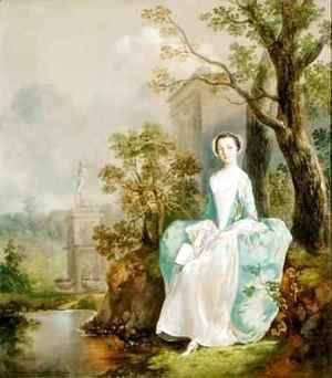 Thomas Gainsborough - Girl with a Book Seated in a Park
