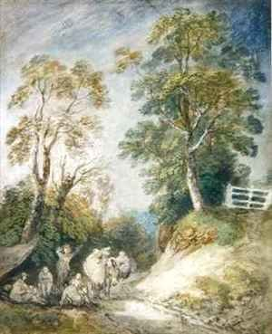 Wooded Landscape with Gypsy Encampment