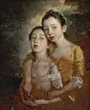 Thomas Gainsborough - The Painters Daughters with a Cat
