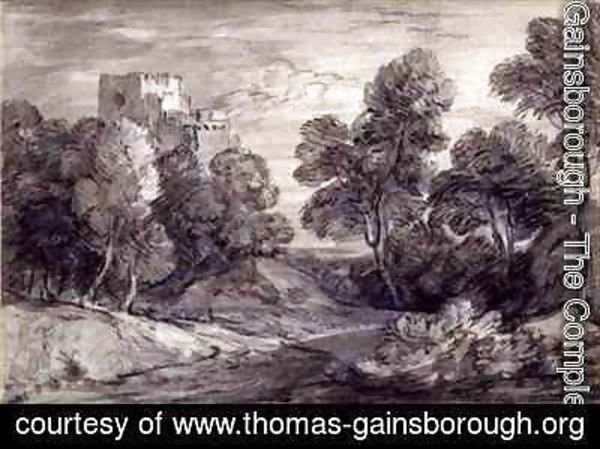 Thomas Gainsborough - Wooded Landscape with a Castle