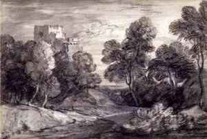 Wooded Landscape with a Castle