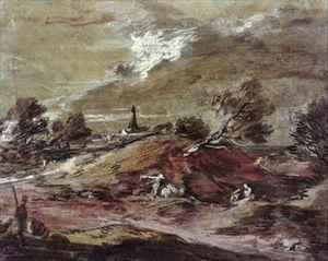 Thomas Gainsborough - Landscape Storm Effect