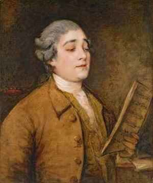 Thomas Gainsborough - Portrait of Giusto Ferdinando Tenducci castrato singer and composer