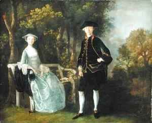 Thomas Gainsborough - Lady Lloyd and her son Richard Savage Lloyd of Hintlesham Hall Suffolk