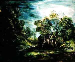 Thomas Gainsborough - Cottage in Moonlight