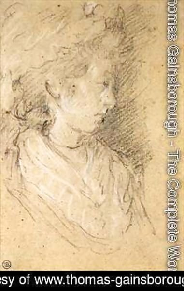 Thomas Gainsborough - Study of a woman in a Mob Cap