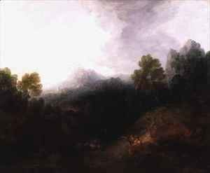 Thomas Gainsborough - A Mountain Valley with Rustic Figures
