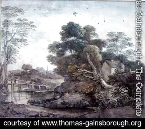 Thomas Gainsborough - Landscape with Cottage and Stream