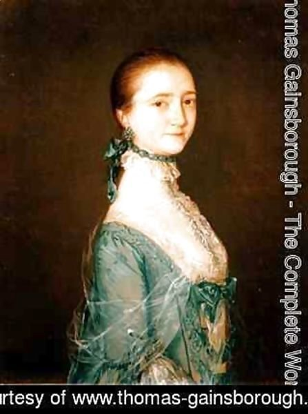 Thomas Gainsborough - Elizabeth wife of Richard Colville in a blue dress