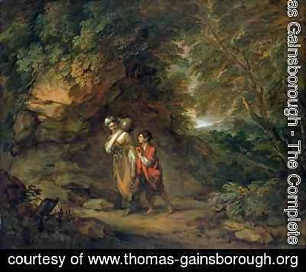 Thomas Gainsborough - Rocky landscape with Hagar and Ishmael