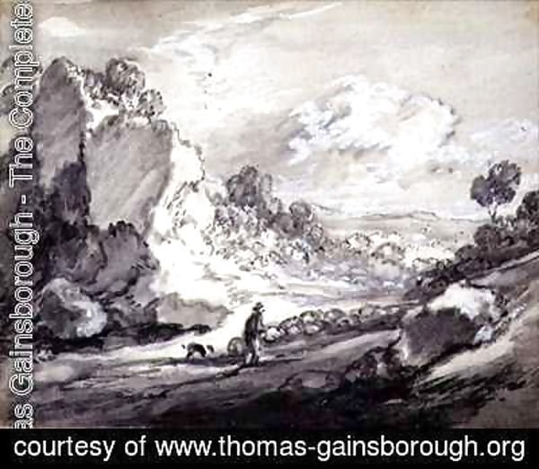 Thomas Gainsborough - A Shepherd and his Flock