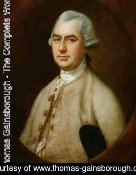 Thomas Gainsborough - Portrait of Charles Bourchier