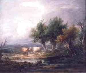 Thomas Gainsborough - Cattle Beside a River